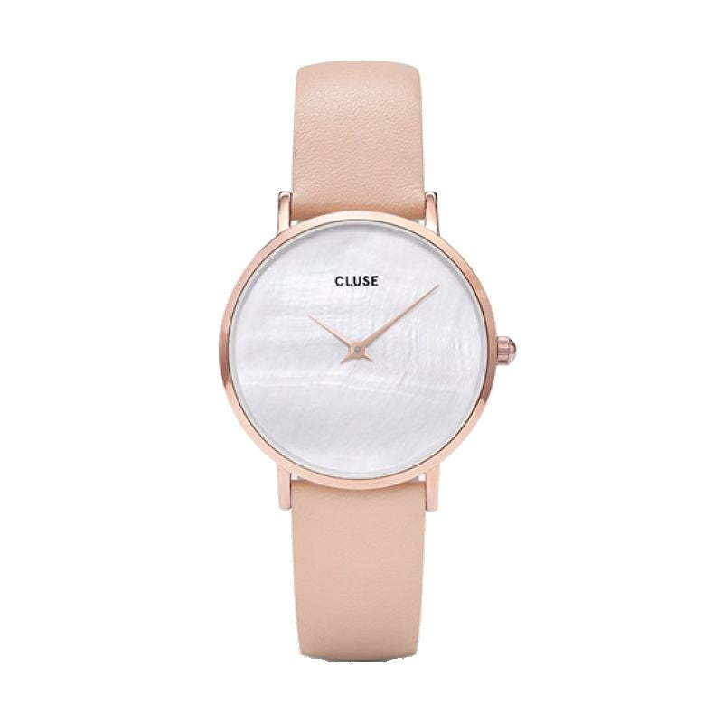 Cluse Minuit La Perle Rose Gold White Pearl/Nude CL30059