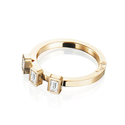 Efva Attling Baguette Wedding Ring timanttisormus (0,30 ct)