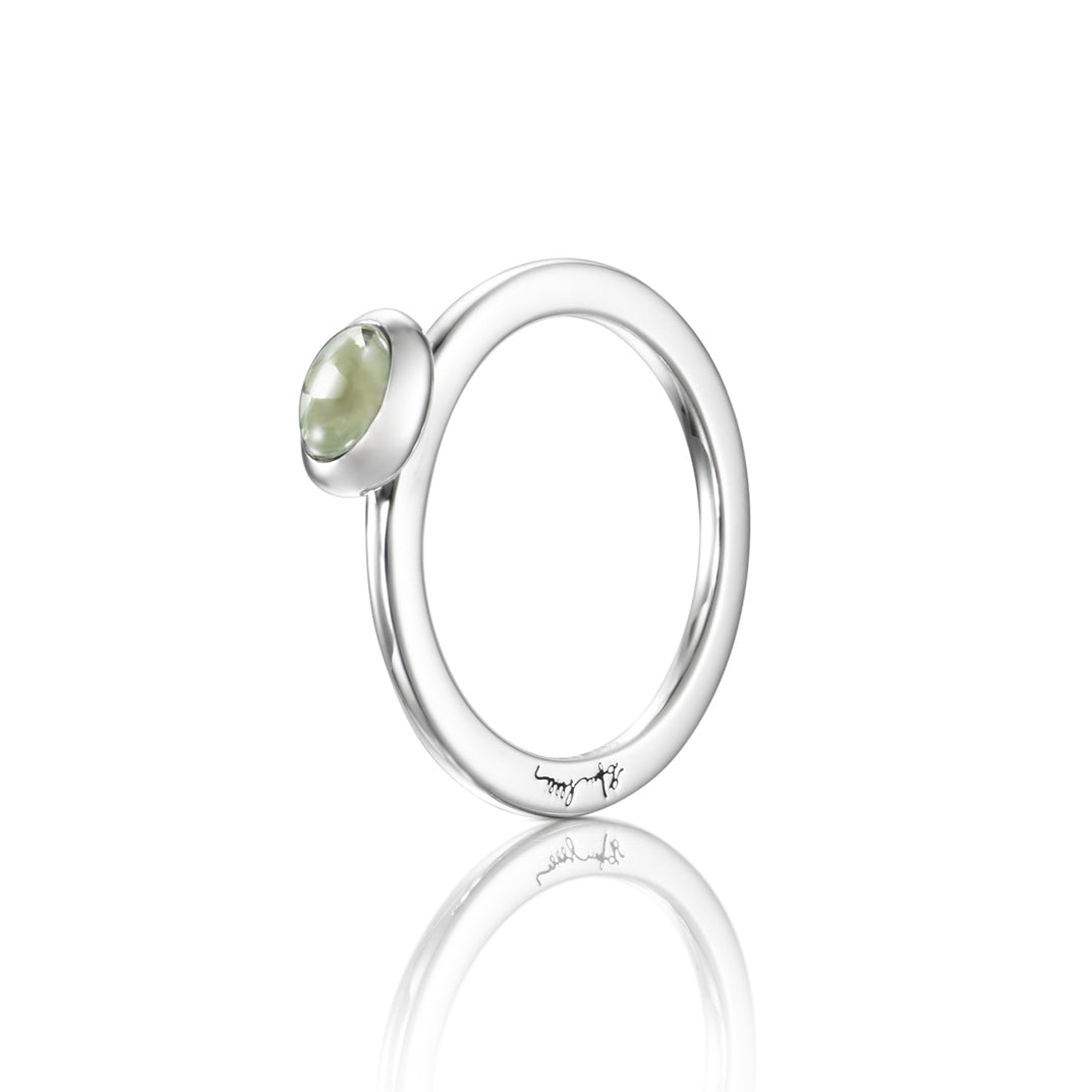 Efva Attling Love Bead Green Quartz sormus