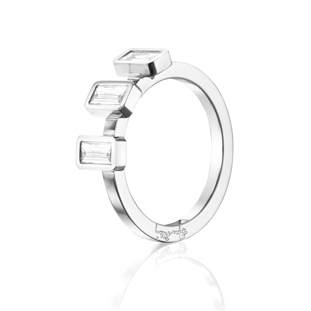 Efva Attling Baguette Wedding Ring timanttisormus (0,60 ct)