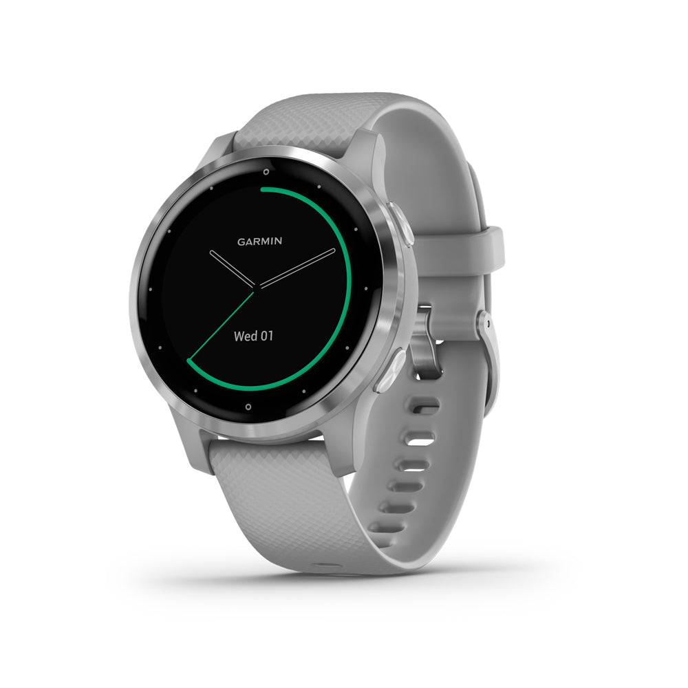 Garmin Vivoactive 4S Powder Gray & Silver älykello 010-02172-02