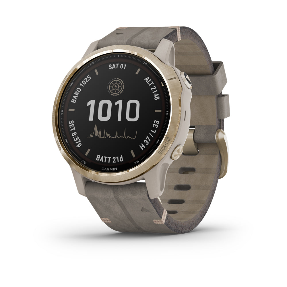 Garmin Fenix 6S Pro Solar Light Gold älykello 010-02409-26