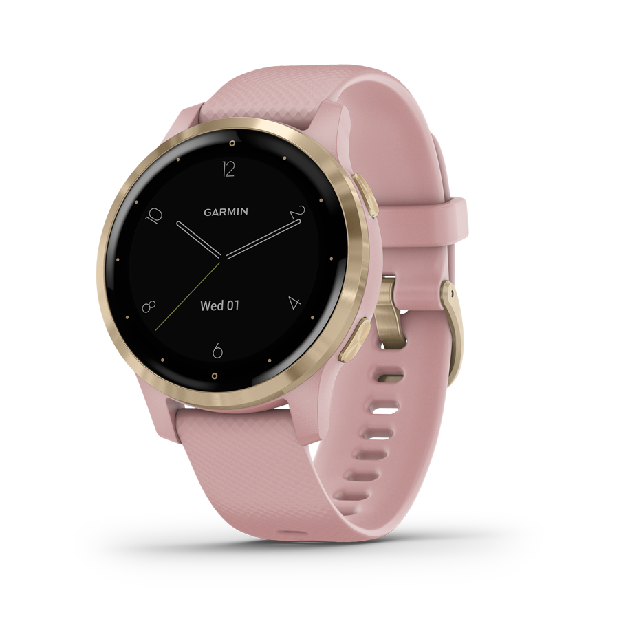 Garmin Vivoactive 4S Dust Rose & Light Gold älykello 010-02172-32