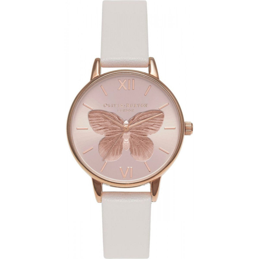 Olivia Burton 3D Butterfly Sunray Dial Blush & Rose Gold OB16MB16