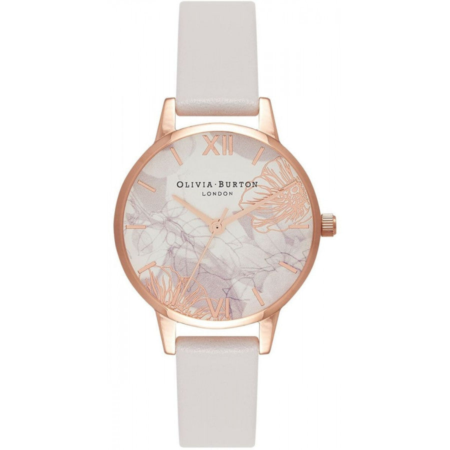Olivia Burton Abstract Florals Blush & Rose Gold OB16VM12