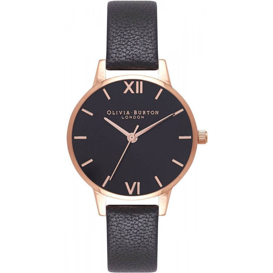 Olivia Burton Midi Dial Black & Rose Gold OB16MD83