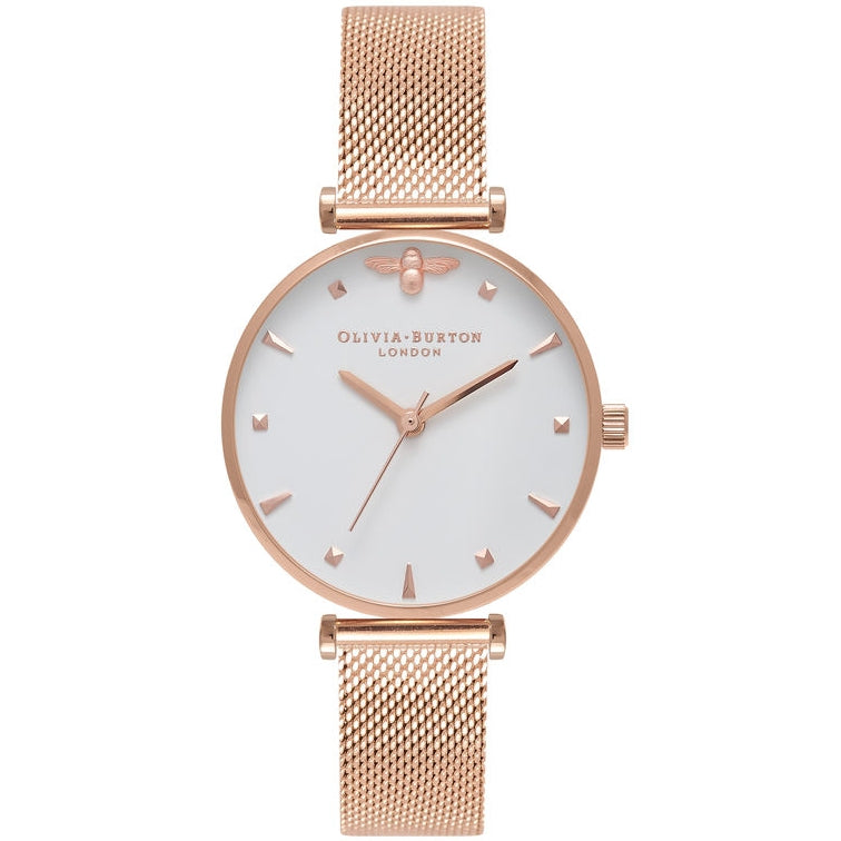 Olivia Burton Queen Bee Rose Gold Mesh kello OB16AM105