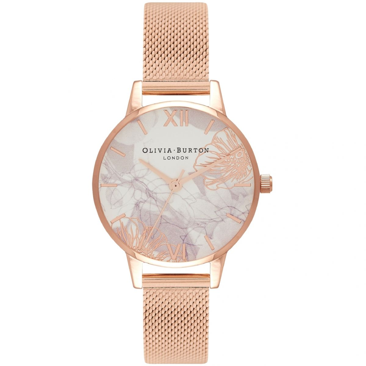 Olivia Burton Abstract Florals Rose Gold kello OB16VM11