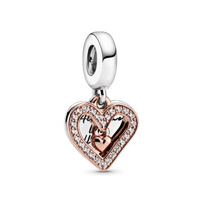 Pandora Sparkling Freehand Heart Dangle hela 788693C01