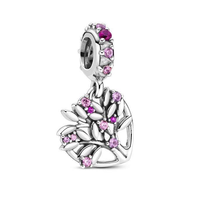 Pandora Pink Heart Family Tree hela 799153C01