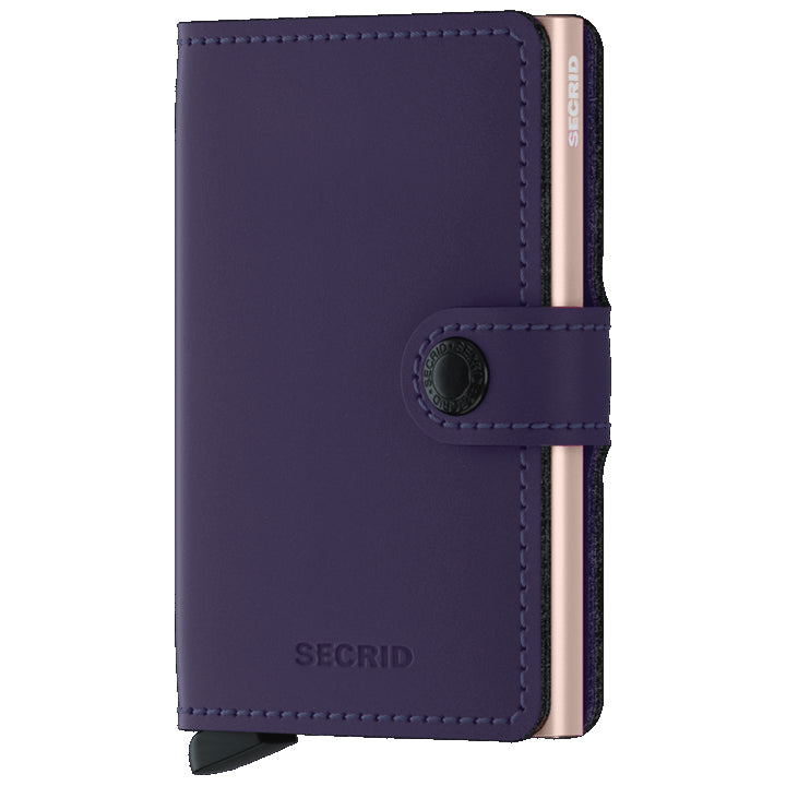 Secrid Miniwallet Matte Purple Rose lompakko