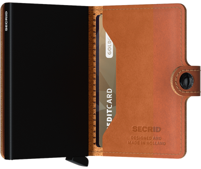 Secrid Miniwallet Perforated Cognac lompakko
