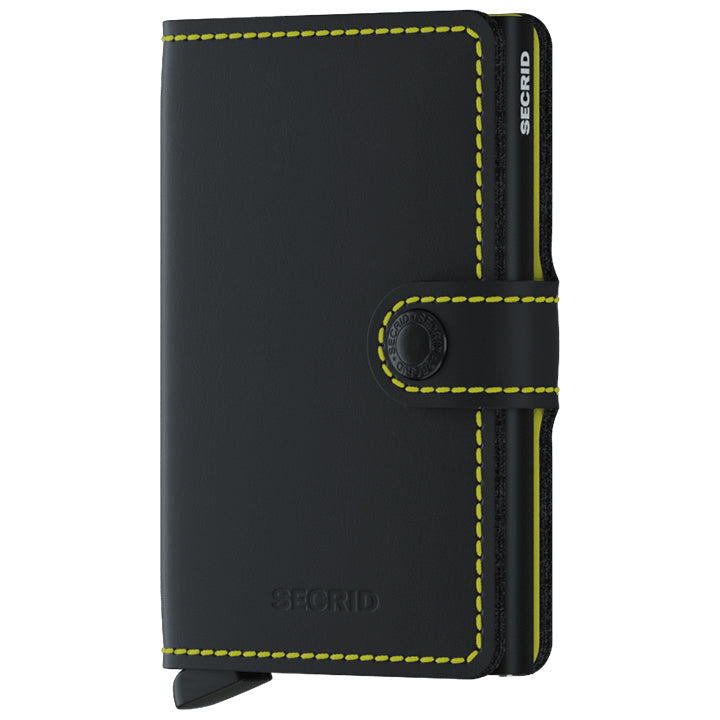 Secrid Miniwallet Matte Black & Yellow lompakko