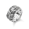 Thomas Sabo Feather Pavé sormus TR2159-643-11