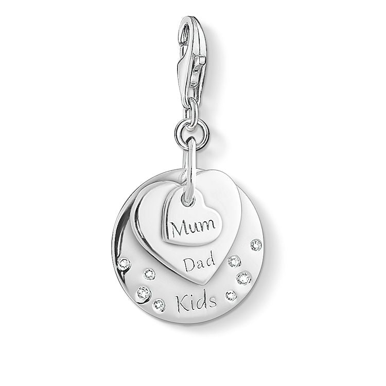 Thomas Sabo Charm Club Hearts Mum, Dad, Kids 1459-051-21