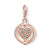Thomas Sabo Charm Club Heart Pavé Rose Gold 1859-416-14