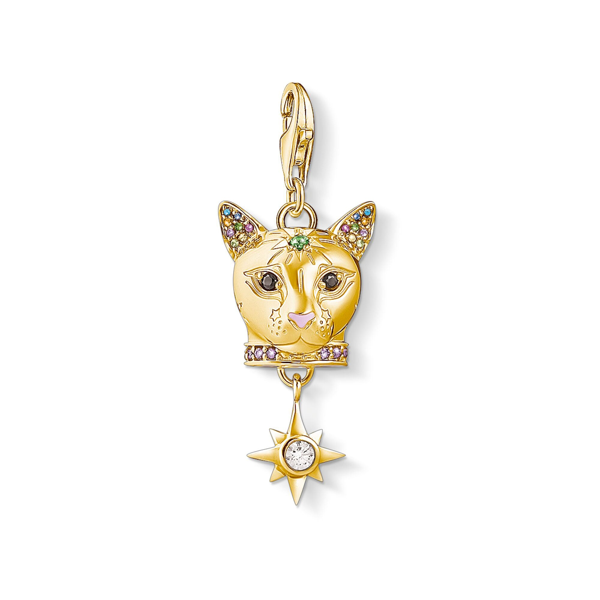 Thomas Sabo Charm Club Cat Gold 1819-471-7