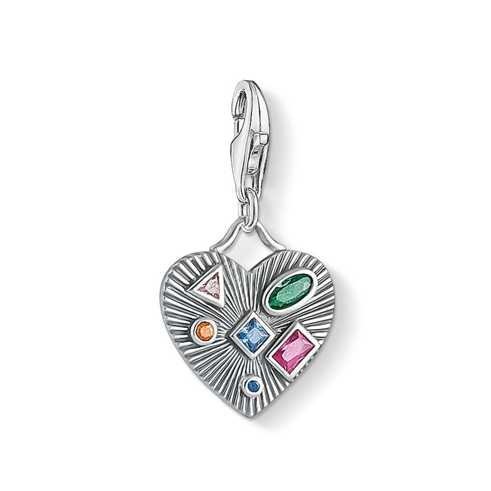 Thomas Sabo Charm Club Colorful Stones Heart 1806-318-7