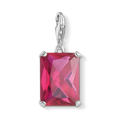 Thomas Sabo Charm Club Large Hot Pink Stone 1834-011-10