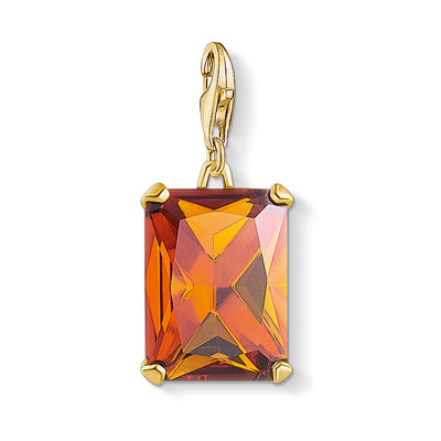 Thomas Sabo Charm Club Large Orange Stone 1840-472-8