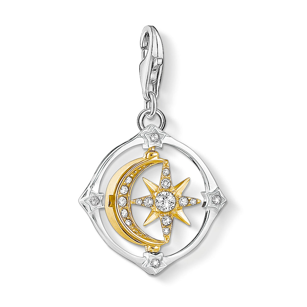 Thomas Sabo Charm Club Moveable Moon & Star 1815-414-7