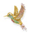 Thomas Sabo Colourful Hummingbird Gold riipus PE875-488-7