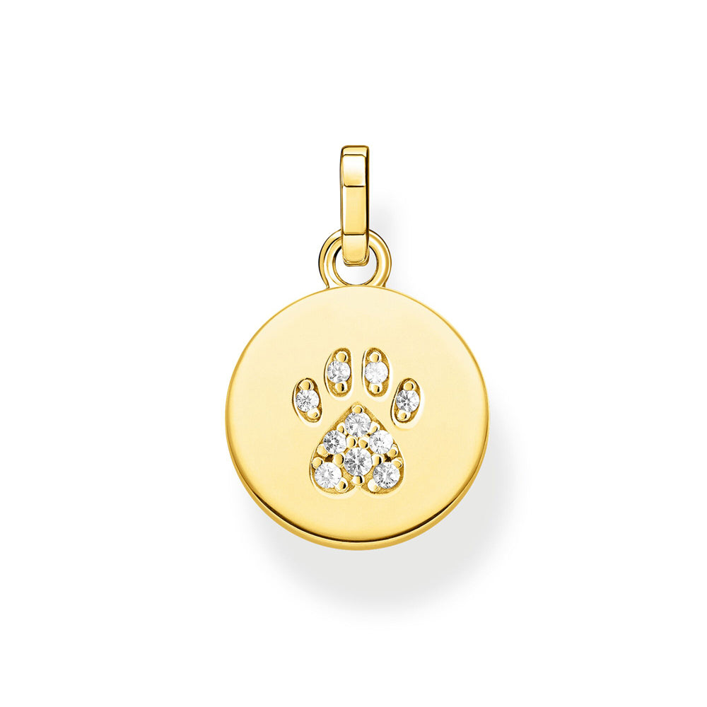 Thomas Sabo Disc Paw Cat Gold riipus PE882-414-14