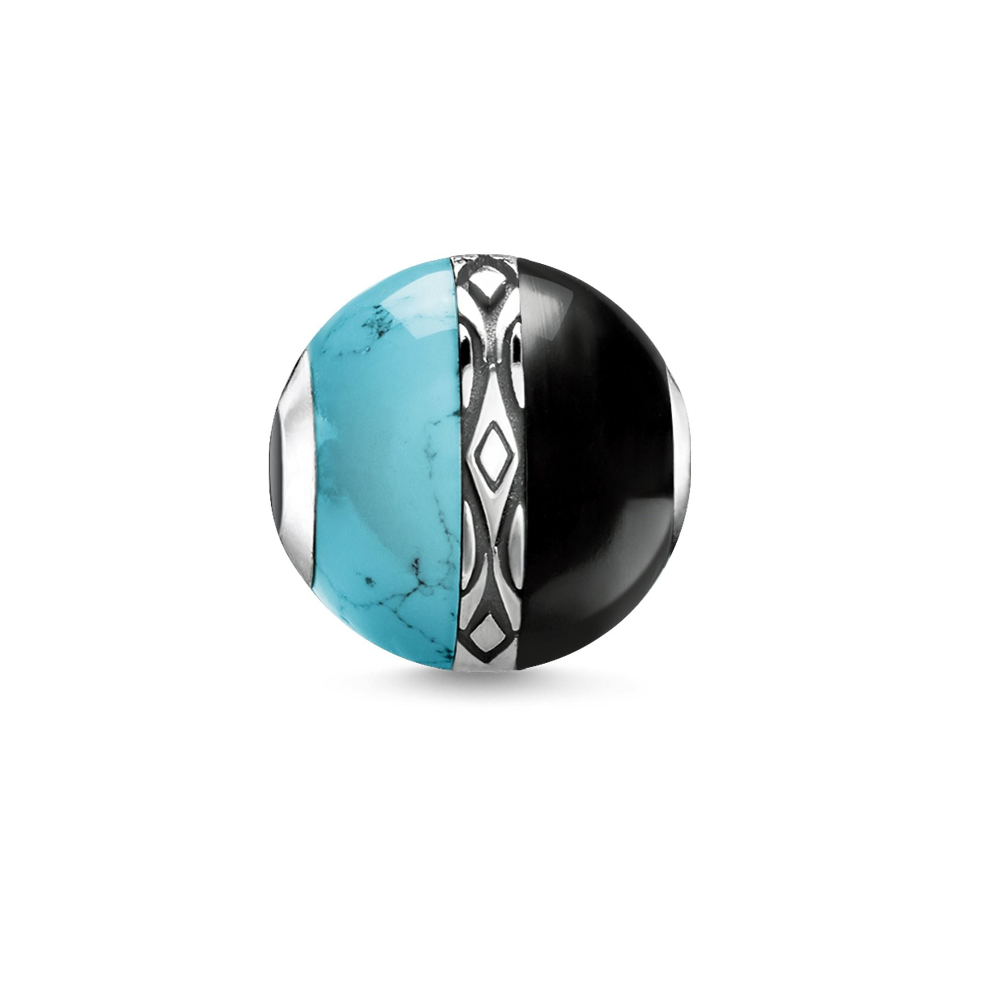 Thomas Sabo Karma Bead Ornament Turquoise & Black K0324-878-7
