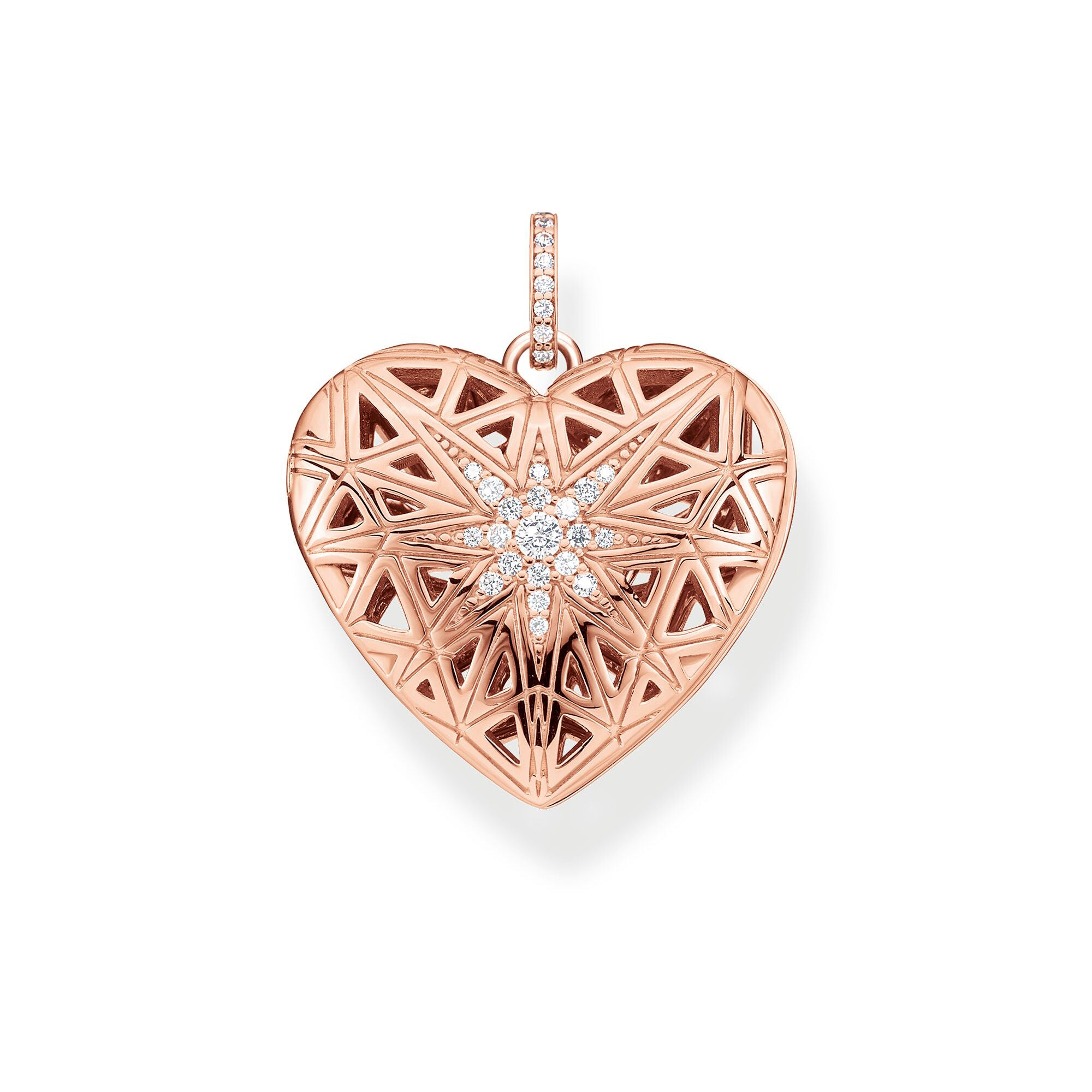 Thomas Sabo Heart Medallion Star Pink riipus PE861-416-14