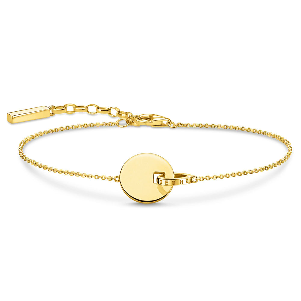 Thomas Sabo Together Coin Gold rannekoru A1934-413-39