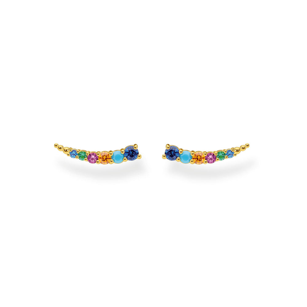 Thomas Sabo Ear Climber Colourful Stones Gold korvakorut H2158-488-7