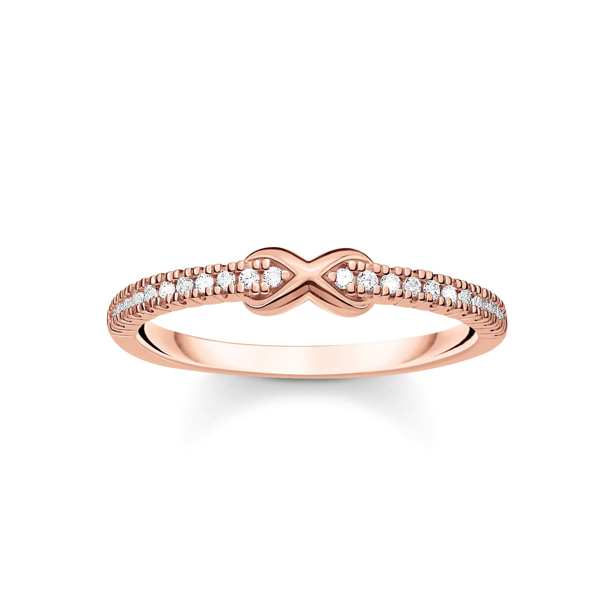 Thomas Sabo Infinity With White Stones Rose Gold sormus TR2322-416-14