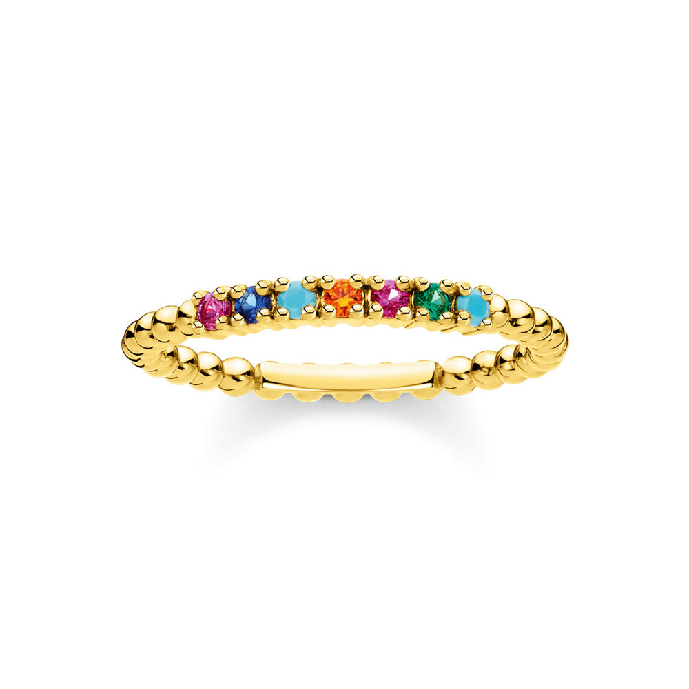 Thomas Sabo Dots With Colourful Stones Gold sormus TR2323-488-7