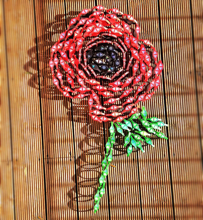 Remembrance Day 2012 - Poppy Made Out Of Infinity Pro Power Bnads