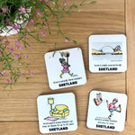 Square Coasters - The Amazing Benefits of Wool (Preorder)