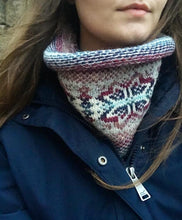 Tina's Knitted Fair Isle Curled Cowl