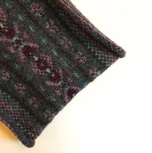 Sea Pinks Knitted Fair Isle Curled Cowl