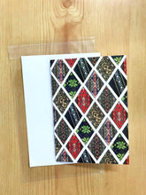 Diamond Greetings card, Fair Isle detail