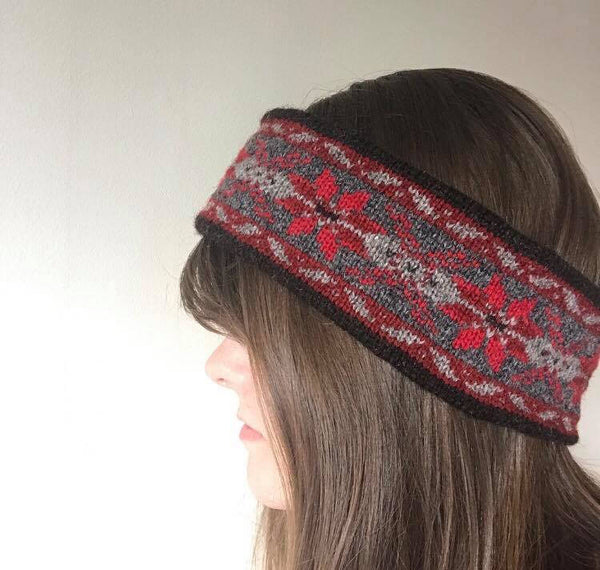 Grants Reds Knitted Fair Isle Headband