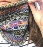 Billister Lights Knitted Fair Isle Curled Cowl
