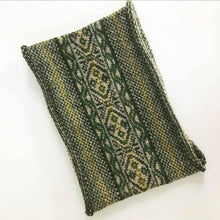 Moss Knitted Fair Isle Curled Cowl