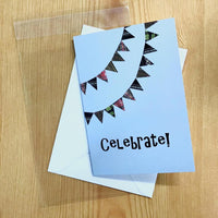 Celebrate! Greetings card, Fair Isle Detail