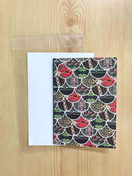 Scale Greeting Card, Fair Isle Detail