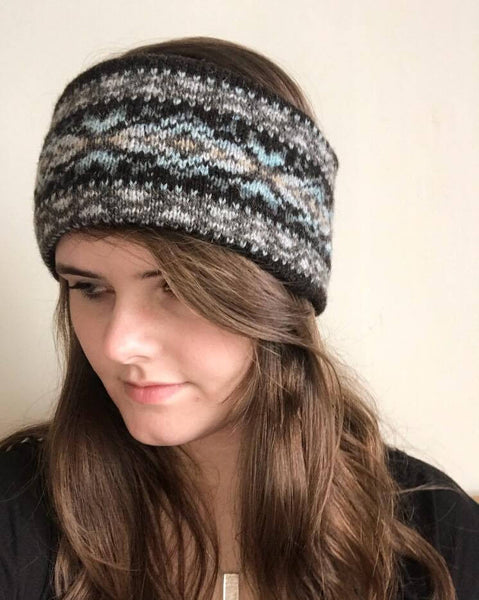 Beach Knitted Fair Isle Headband