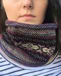 Sweet Pea Knitted Fair Isle Curled Cowl