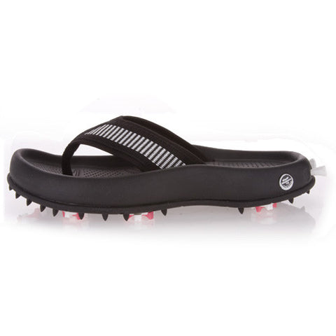 Women's Spackler Golf Flip Flop in Black and White