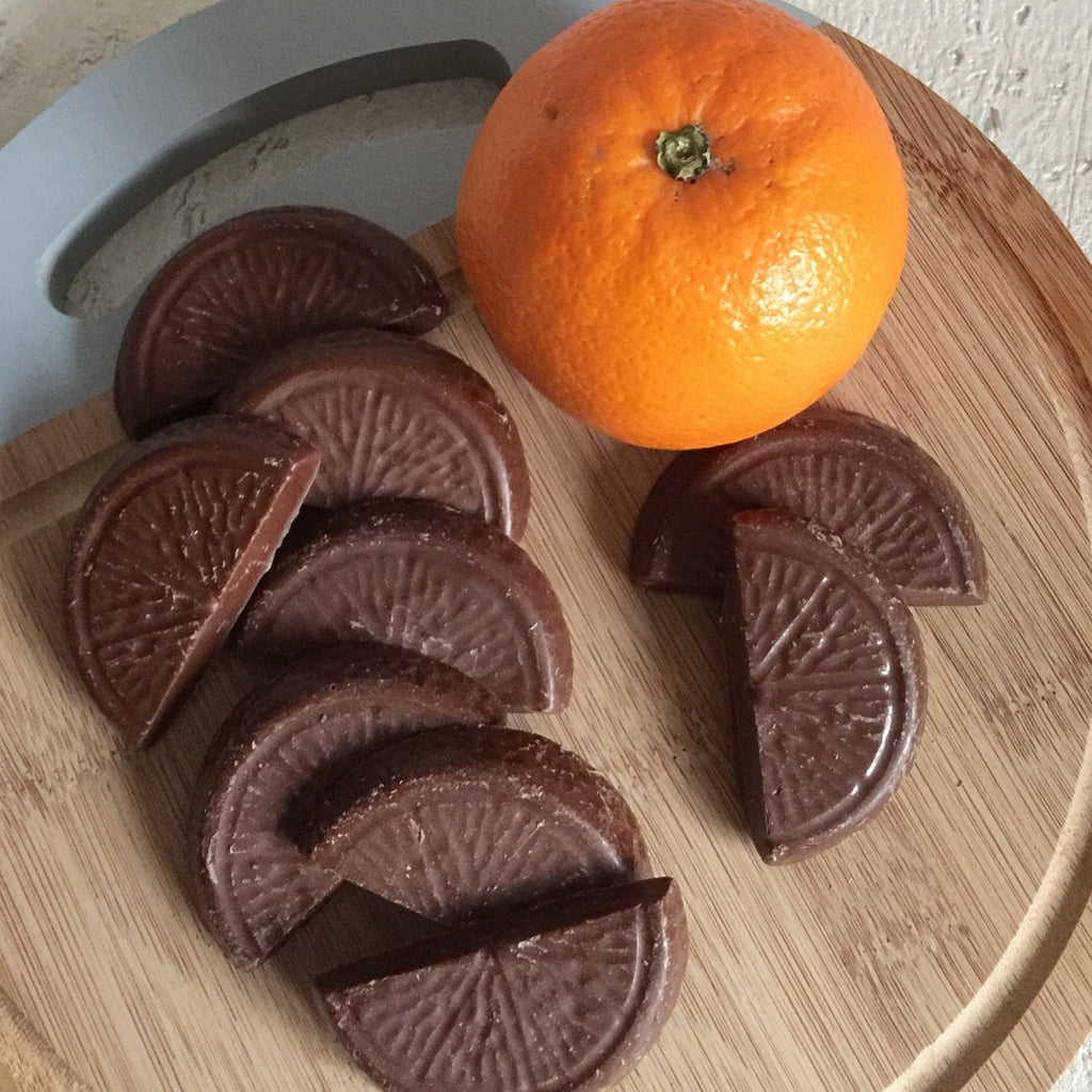 Orange chocolate segments