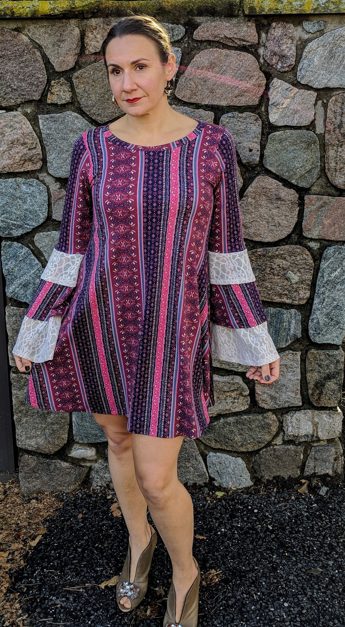 Boho Tiered Sleeve Dress