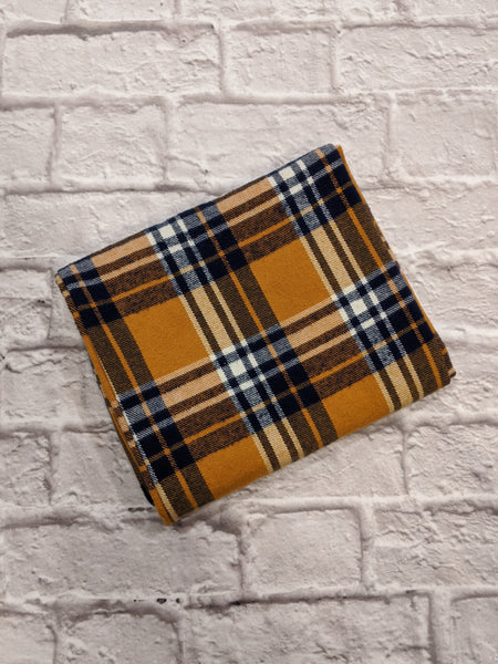 Gold/Navy/Ivory Plaid