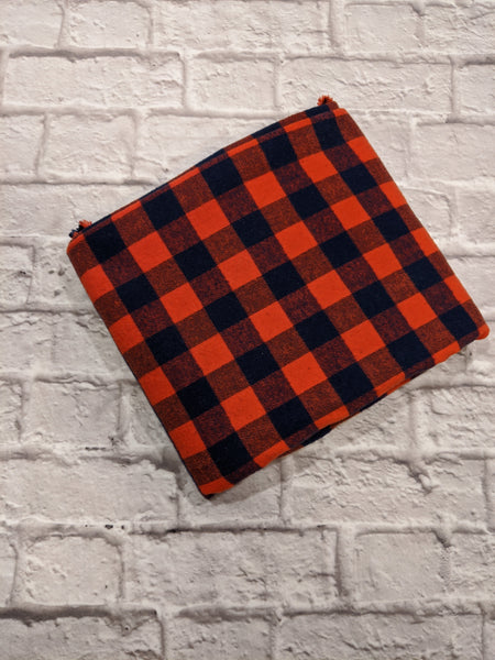 Orange/Navy Buffalo Plaid